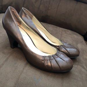 Brown nine west wedge heel